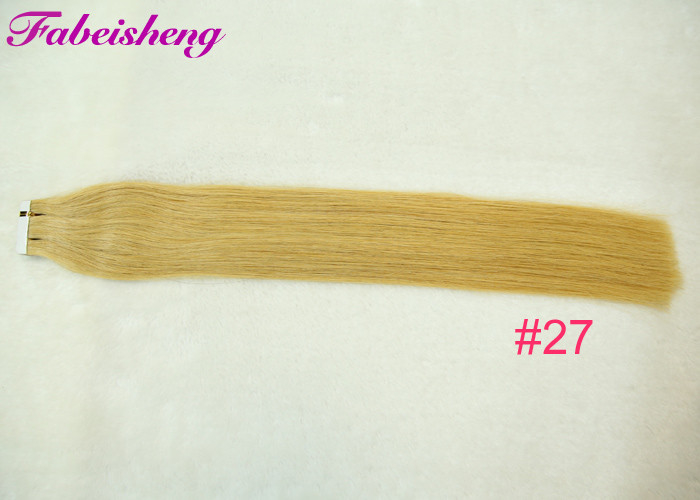 European Remy Human Tape In Hair Extensions Tangle Free 100g / 40 Pieces