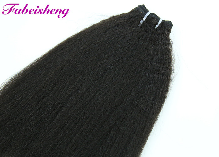 Black Raw Peruvian 7A Virgin Hair / Brazilian Human Hair Sew In Weave
