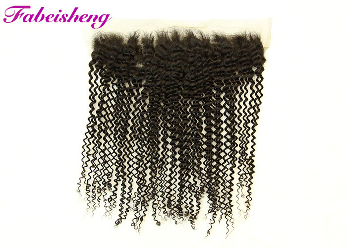 "Transparent 13x6 Lace Frontal / 13x4 Lace Frontal 10-18"" Curly No Smell"